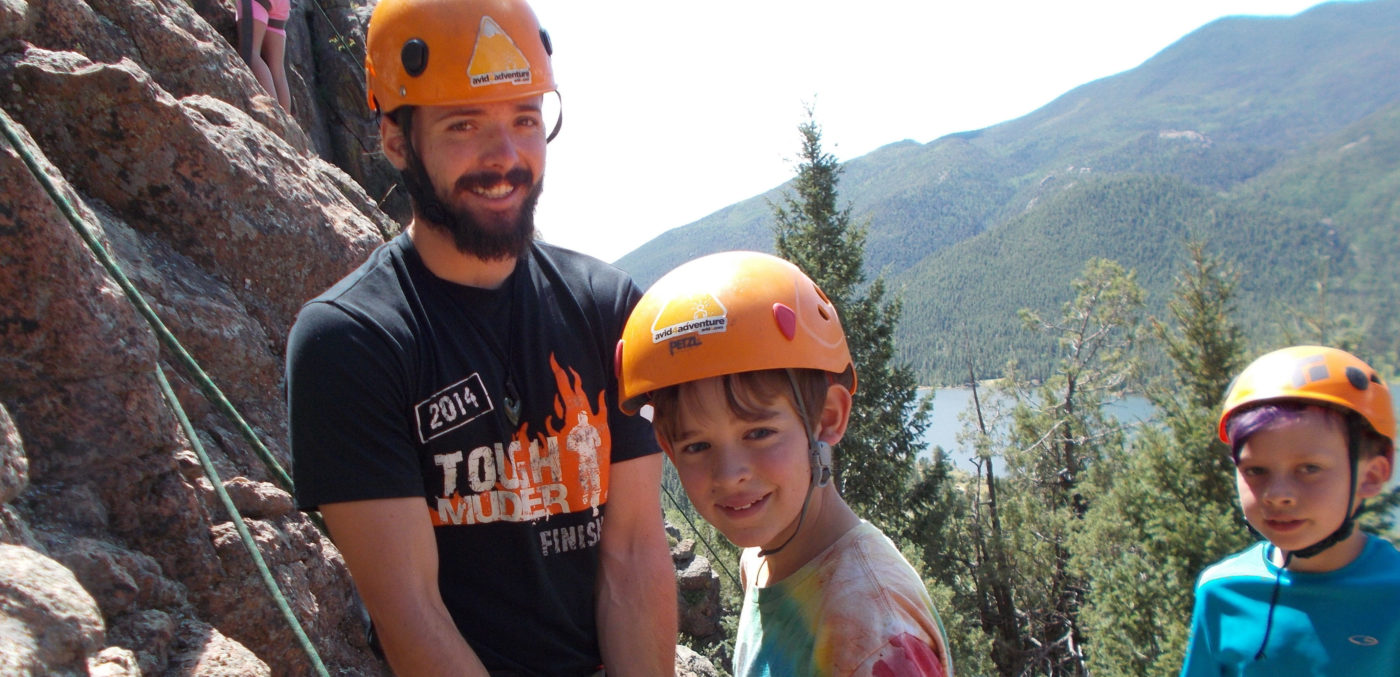 Rock climbing at summer camp